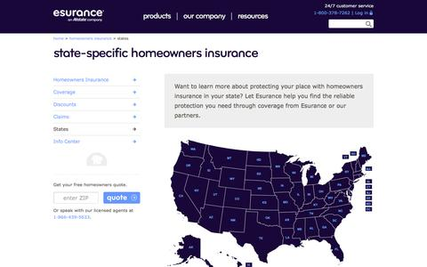 Homeowners Insurance by State | Esurance