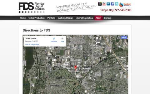 Screenshot of Maps & Directions Page floridadigitalstudios.com - Directions to FDS | Florida Digital Studios - captured Sept. 30, 2014