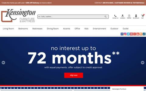 Screenshot of Home Page kensingtonfurniture.com - Kensington Furniture says… - captured May 15, 2018
