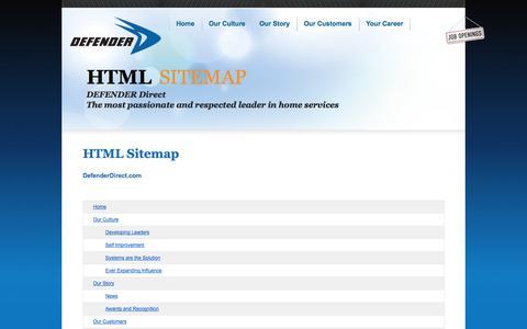 Screenshot of Site Map Page defenderdirect.com - HTML Site Map | DEFENDER Direct - captured Sept. 24, 2014