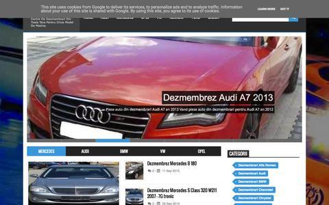 Screenshot of Home Page dezm.ro - Dezmembrari auto - captured Sept. 19, 2015