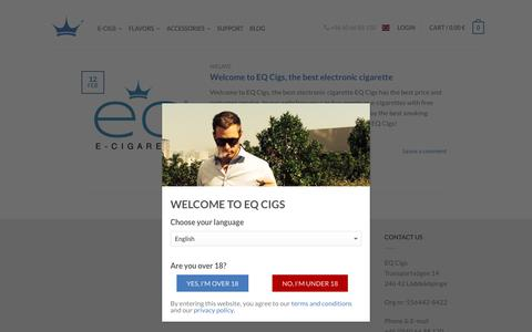 Screenshot of Blog eqcigs.com - EQ Cigs Blog - Latest news about electronic cigarettes | EQ Cigs - captured March 2, 2016