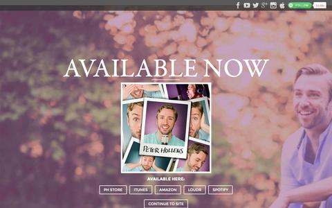 Screenshot of Home Page peterhollens.com - Peter Hollens | A Cappella Artist in Eugene OR - captured Oct. 8, 2015