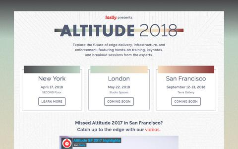 Fastly presents Altitude 2018 | Fastly