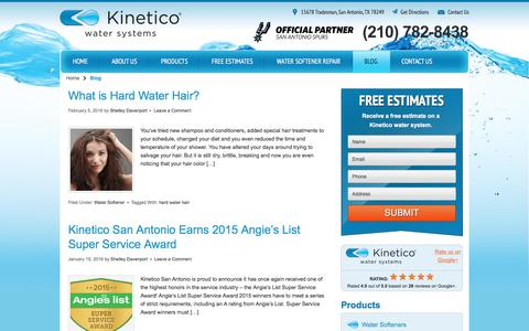 Screenshot of Blog kineticosa.com - Home Water Treatment Blog | Kinetico San Antonio - captured Feb. 12, 2016