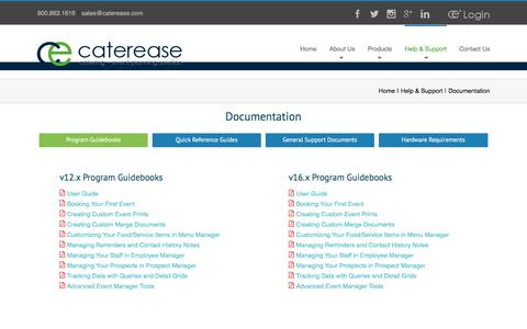 Catering software solution's documentation | Caterease