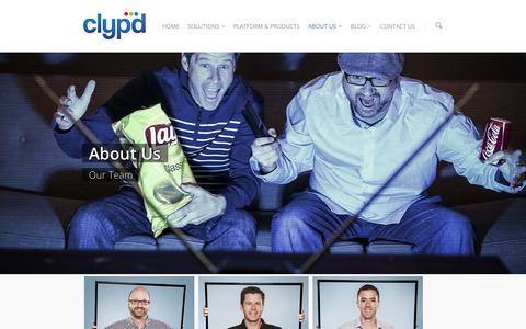 Screenshot of Team Page clypd.com - Team |  clypd - captured Nov. 1, 2014