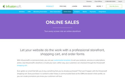 Small Business E-Commerce Software | Infusionsoft