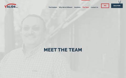 Screenshot of Team Page valid8.com - Meet The Team - captured Oct. 18, 2018