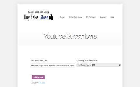 Youtube Subscribers | Buy Fake Facebook Likes