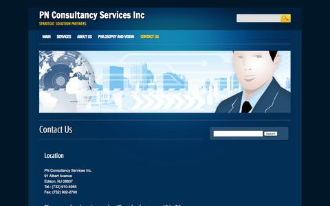 Screenshot of Contact Page pncsi.com - Contact Us | PN Consultancy Services Inc - captured Oct. 1, 2014