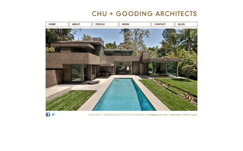 Screenshot of Home Page cg-arch.com - Chu + Gooding Architects - Home - captured Jan. 28, 2016