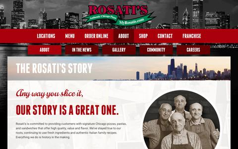 Screenshot of About Page myrosatis.com - Our Story | Rosati's History | Rosati's Pizza - captured Nov. 19, 2016