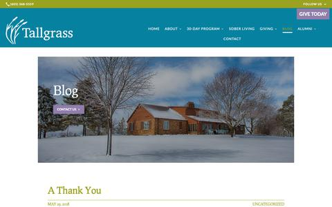 Screenshot of Blog tallgrassrecovery.org - Blog | Tallgrass Recovery & Sober Living Homes - captured Oct. 20, 2018