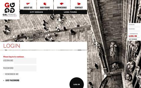 Screenshot of FAQ Page gbltravel.com - Login - GBLTravel - captured July 9, 2016