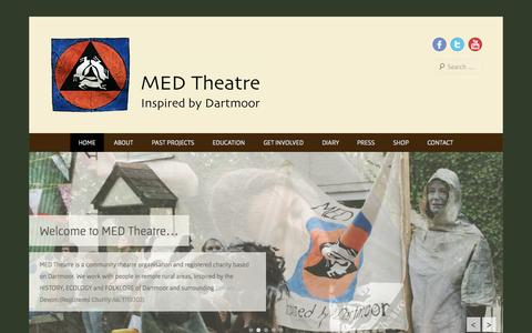 Screenshot of Home Page Menu Page medtheatre.co.uk - MED Theatre | Inspired by Dartmoor - captured Sept. 30, 2014