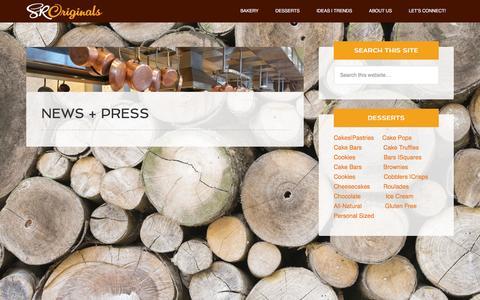 Screenshot of Press Page originaldesserts.com - News + Press - SRO - captured Jan. 3, 2016