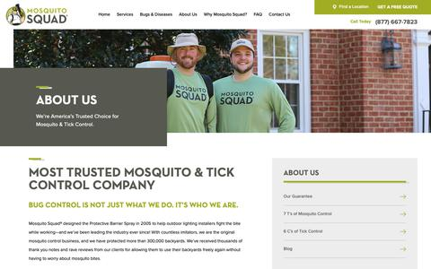 Screenshot of About Page mosquitosquad.com - About Us | Mosquito Squad - captured Feb. 16, 2019