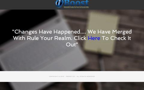 Screenshot of Home Page iboost.co - iBoost Social Media Agency & Strategic Branding - captured Sept. 16, 2015