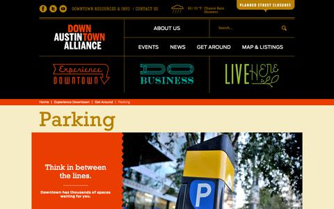 Screenshot of Signup Page downtownaustin.com - Parking | The Downtown Austin Alliance - captured Dec. 19, 2018