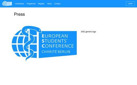 Screenshot of Press Page esc-berlin.com - Press – ESC 2016 - captured June 1, 2016
