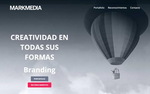 Screenshot of Home Page markmedia.cl - Inicio - Markmedia - captured Nov. 6, 2018