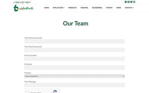 Screenshot of Team Page blastcrete.com - Our Team | Blastcrete Equipment Company - captured Sept. 12, 2018