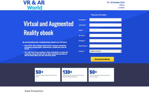 Screenshot of Landing Page knect365.com - VR AR Ebook - captured Dec. 30, 2016