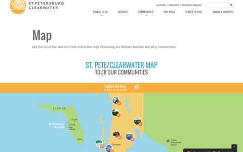 Screenshot of Maps & Directions Page visitstpeteclearwater.com - Map   Visit St Petersburg Clearwater Florida - captured Feb. 8, 2016