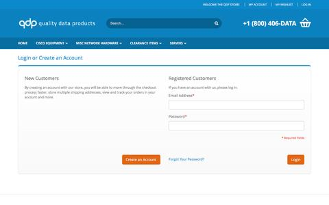Screenshot of Login Page qdp.com - Customer Login  - qdp store - captured Nov. 16, 2016