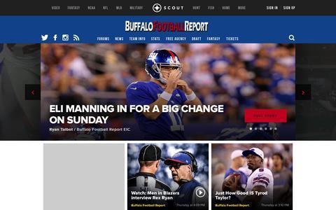 Screenshot of scout.com - Buffalo Bills NFL Football Front Page - captured Oct. 3, 2015