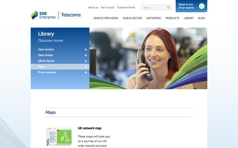 Screenshot of Maps & Directions Page ssetelecoms.com - Maps - captured Sept. 30, 2014