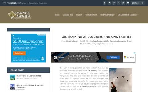 GIS Training at Colleges and Universities | Canadian GIS & Geomatics