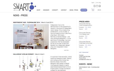 Screenshot of Press Page swartlab.com - NEWS - PRESS - captured Oct. 26, 2014