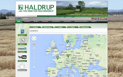 Screenshot of Locations Page haldrup.net - HALDRUP - Field research | - Locations - captured Oct. 1, 2014