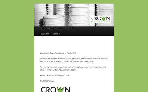 """Screenshot of Home Page crownethiopia.com - Crown Packaging and Plastics PLC 