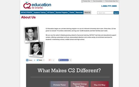 Screenshot of About Page c2educate.com - About C2 Education - captured Sept. 24, 2014