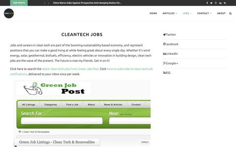 Cleantech Jobs – CleanTechies