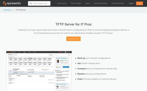 TFTP Server - Spiceworks