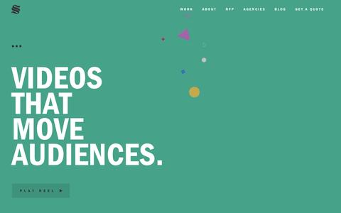 Screenshot of Home Page simplestoryvideos.com - Video Agency | Simple Story Videos - captured May 13, 2017