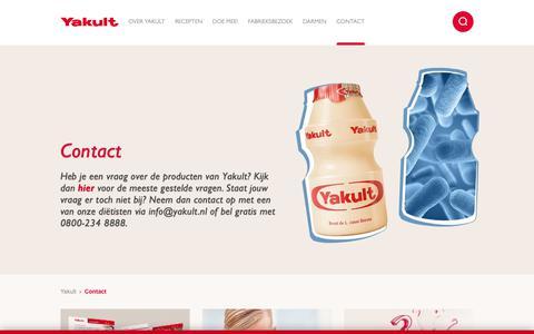 Screenshot of Contact Page yakult.nl - Contact   Yakult - captured Oct. 2, 2018