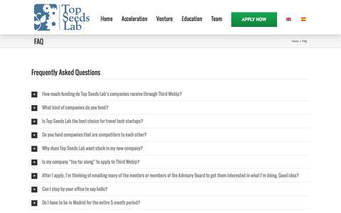 Screenshot of FAQ Page topseedslab.com - FAQ | Top Seeds Lab - captured Aug. 18, 2016