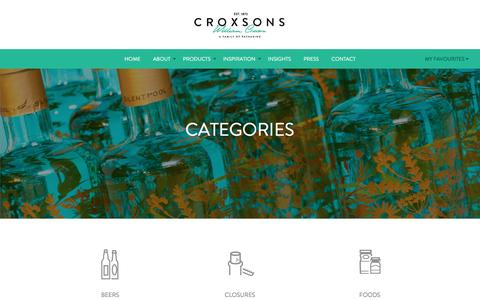 Screenshot of Products Page croxsons.com - Croxsons // What We Sell - captured May 23, 2017