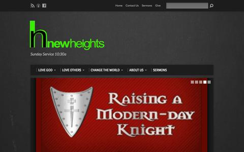 Screenshot of Home Page newheightsboise.com - New Heights Christian Fellowship - BOISE - captured Feb. 14, 2016