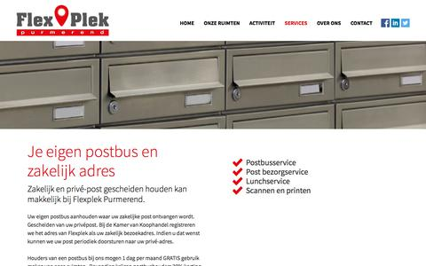Screenshot of Services Page flexplekpurmerend.nl - Services – Flexplekpurmerend - captured Aug. 15, 2018