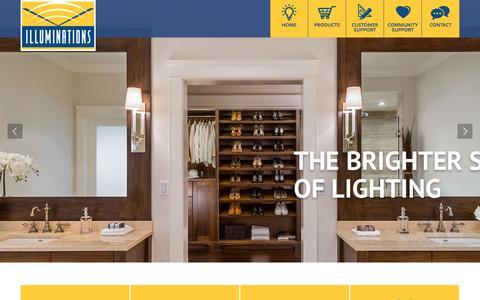 Screenshot of Home Page illuminationsbc.com - Illuminations Lighting Solutions - captured Feb. 10, 2016