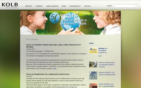 Screenshot of Press Page kolb.ch - Aktuelle News - captured Oct. 6, 2014