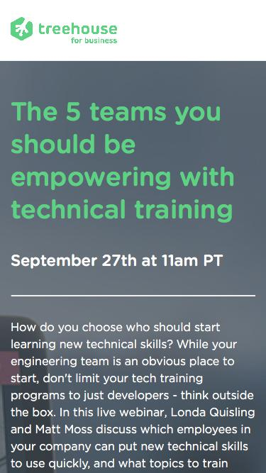 Teams to empower with technical training | Webinar Series