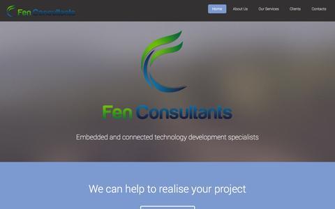 Screenshot of Home Page fenconsultants.com captured Oct. 5, 2014