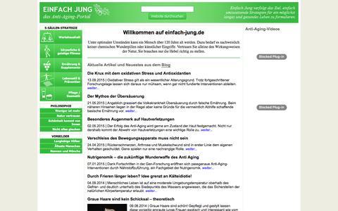 Screenshot of Home Page einfach-jung.de - einfach jung - captured June 10, 2016